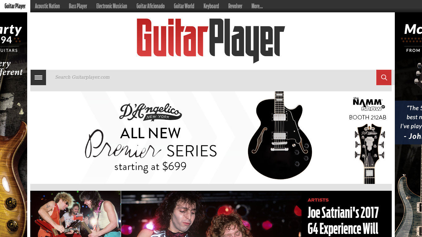 guitarplayer.com Screenshot