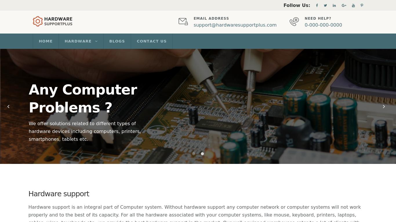 hardwaresupportplus.com Screenshotx