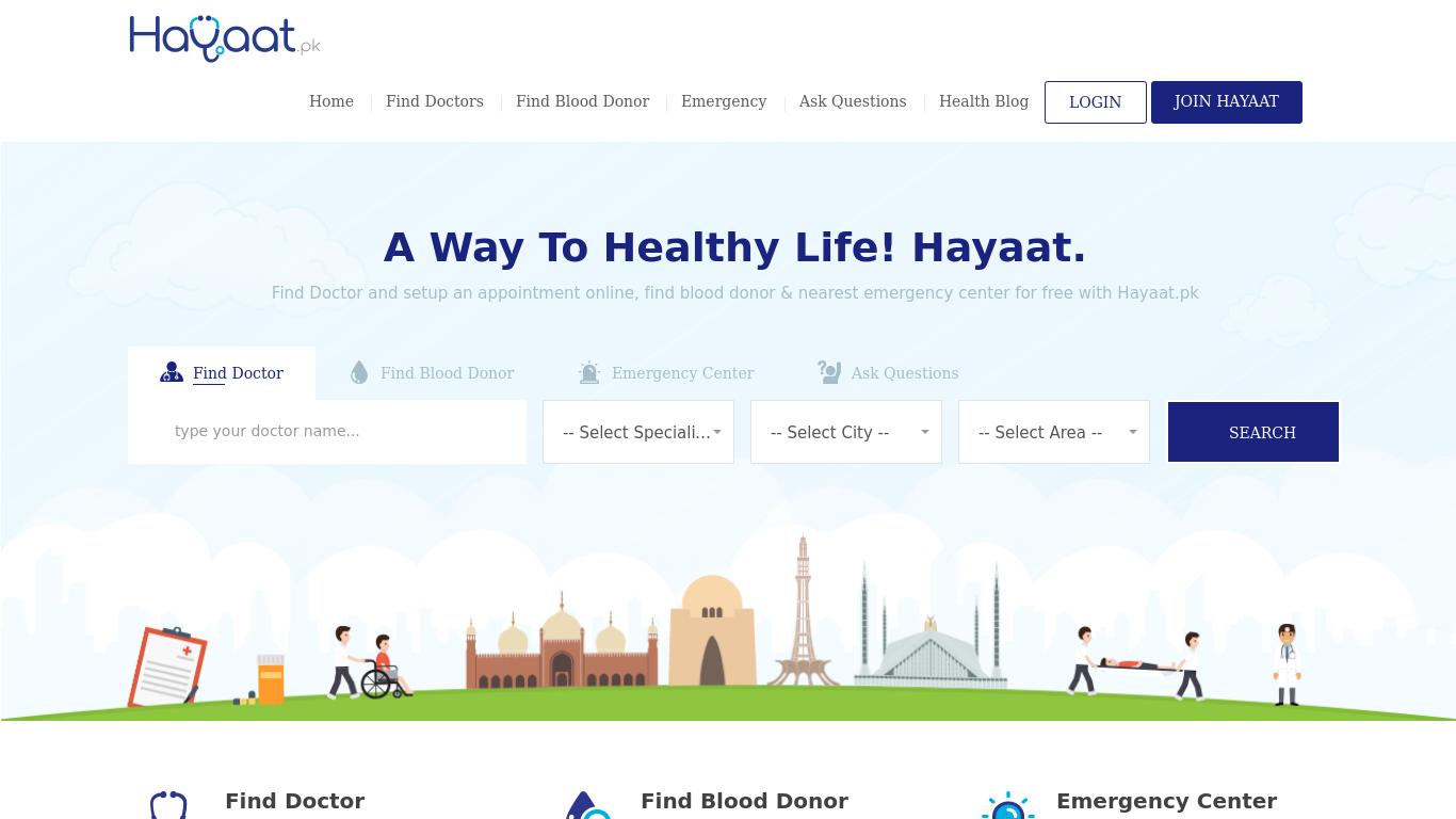 hayaat.pk Screenshotx