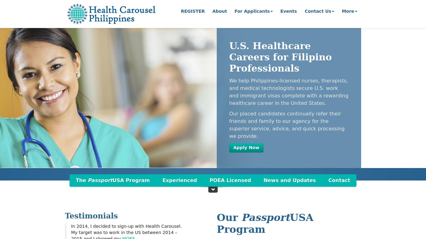healthcarousel.ph Screenshotx