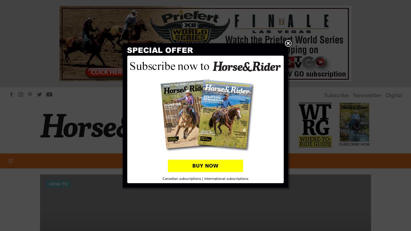 horseandrider.com Screenshotx