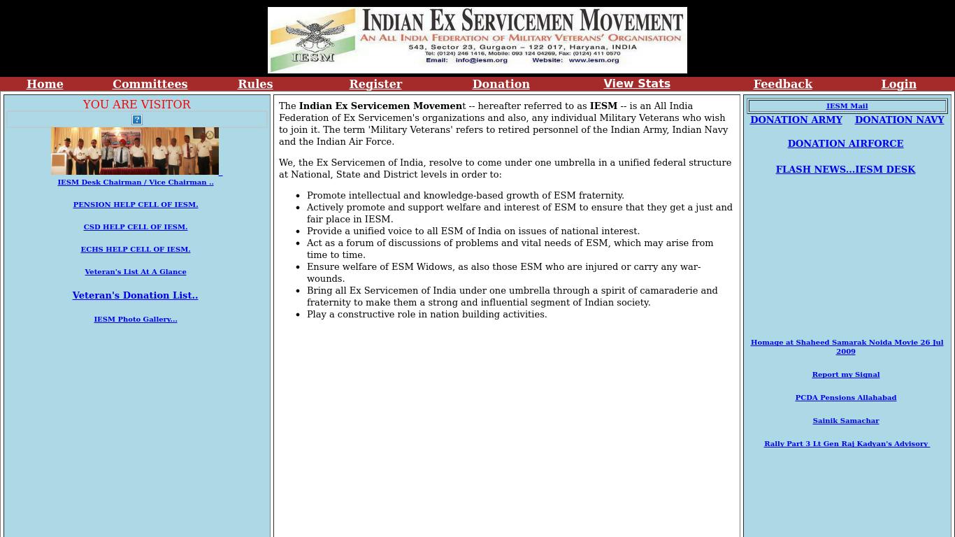 iesm.org Screenshotx