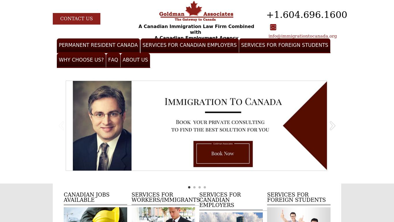 immigrationtocanada.org Screenshotx