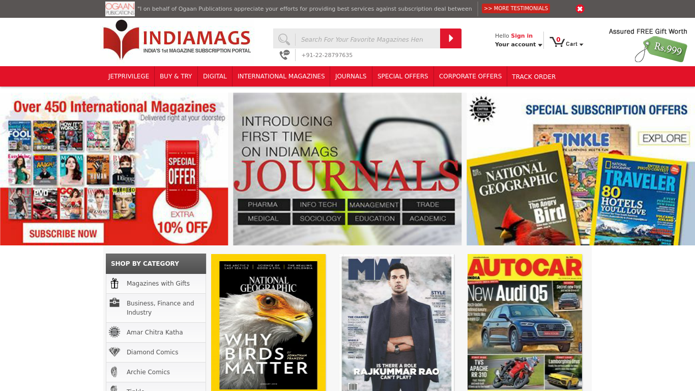 indiamags.com Screenshotx