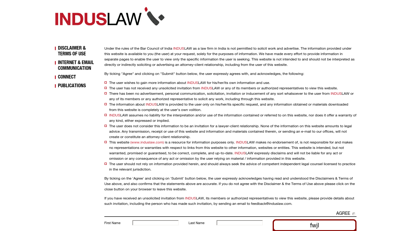 induslaw.com Screenshotx