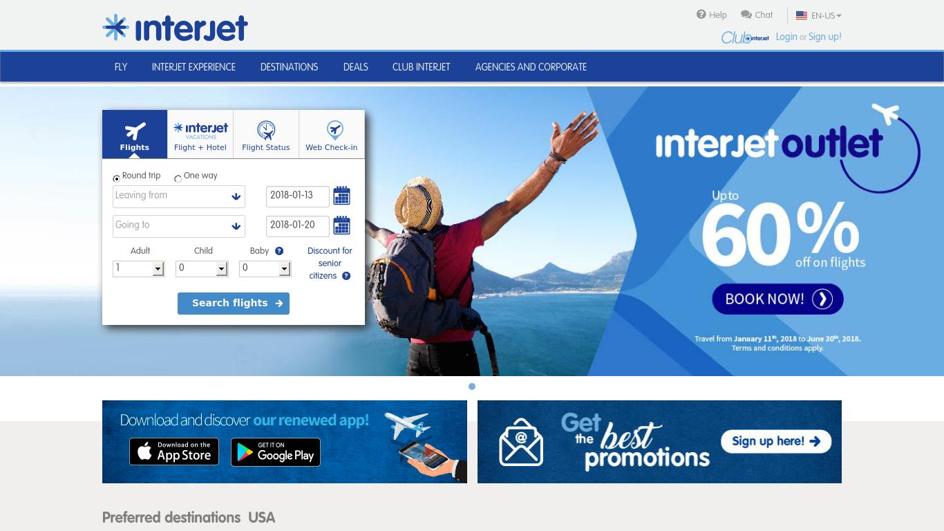 interjet.com Screenshotx