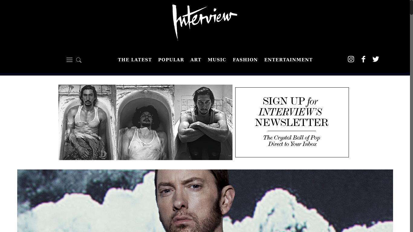 interviewmagazine.com Screenshotx