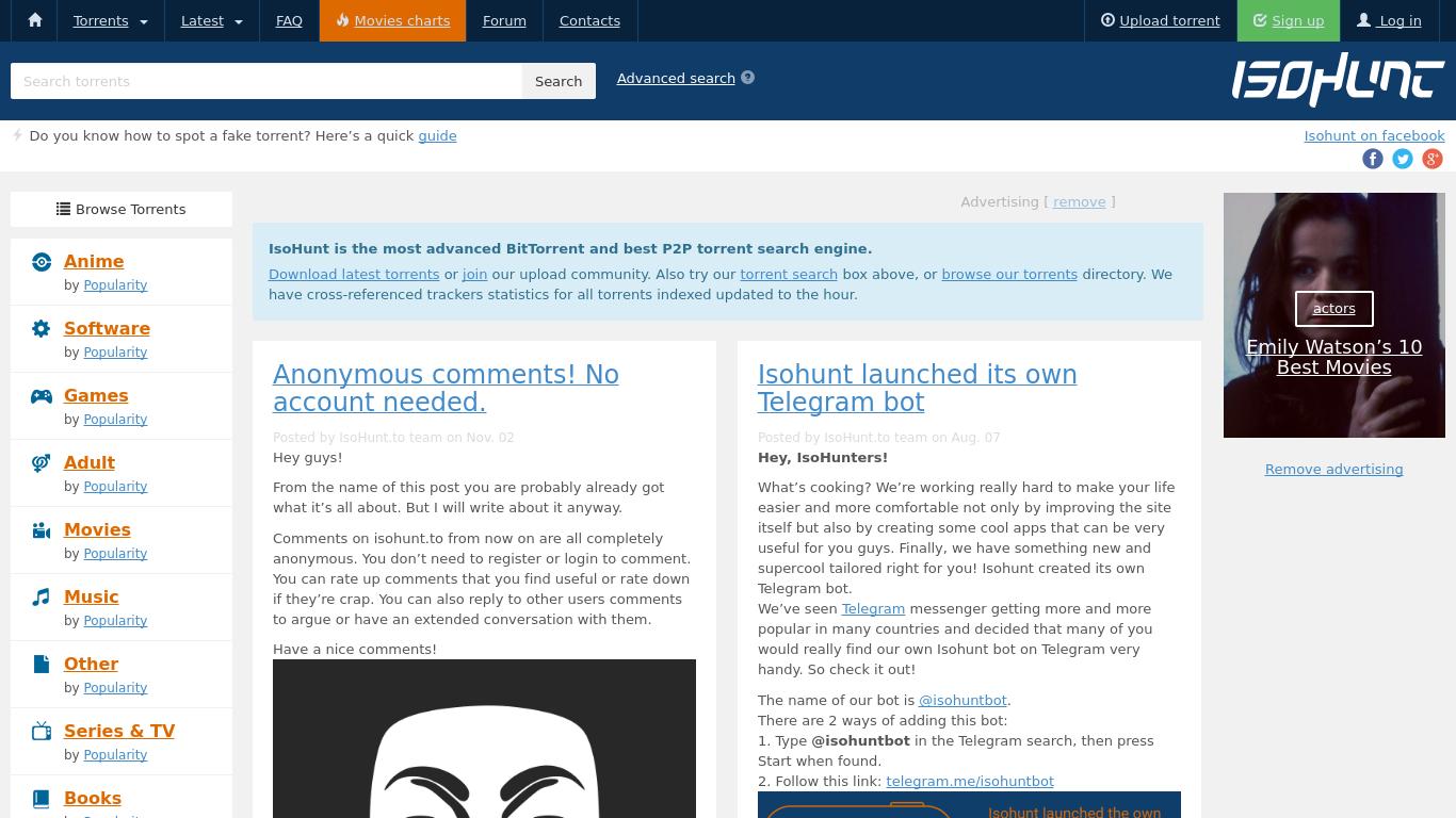 isohunt.to Screenshotx