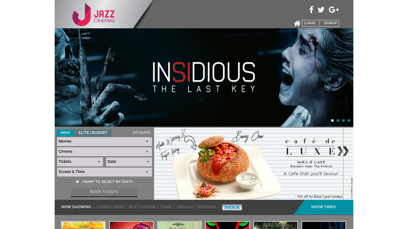 jazzcinemas.com Screenshotx