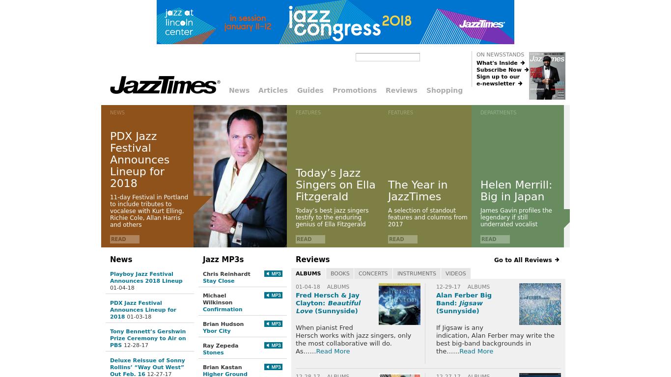 jazztimes.com Screenshotx