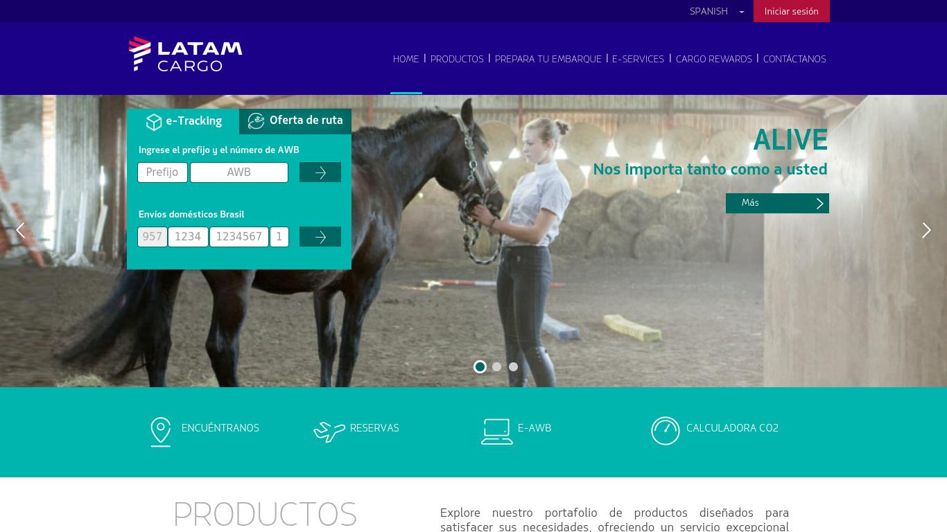 latamcargo.com Screenshotx