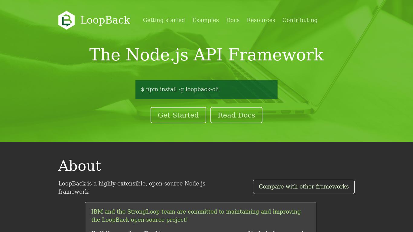 loopback.io Screenshotx