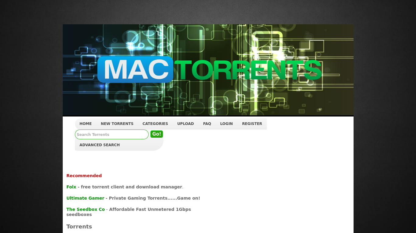 Torrent Sites For Mac