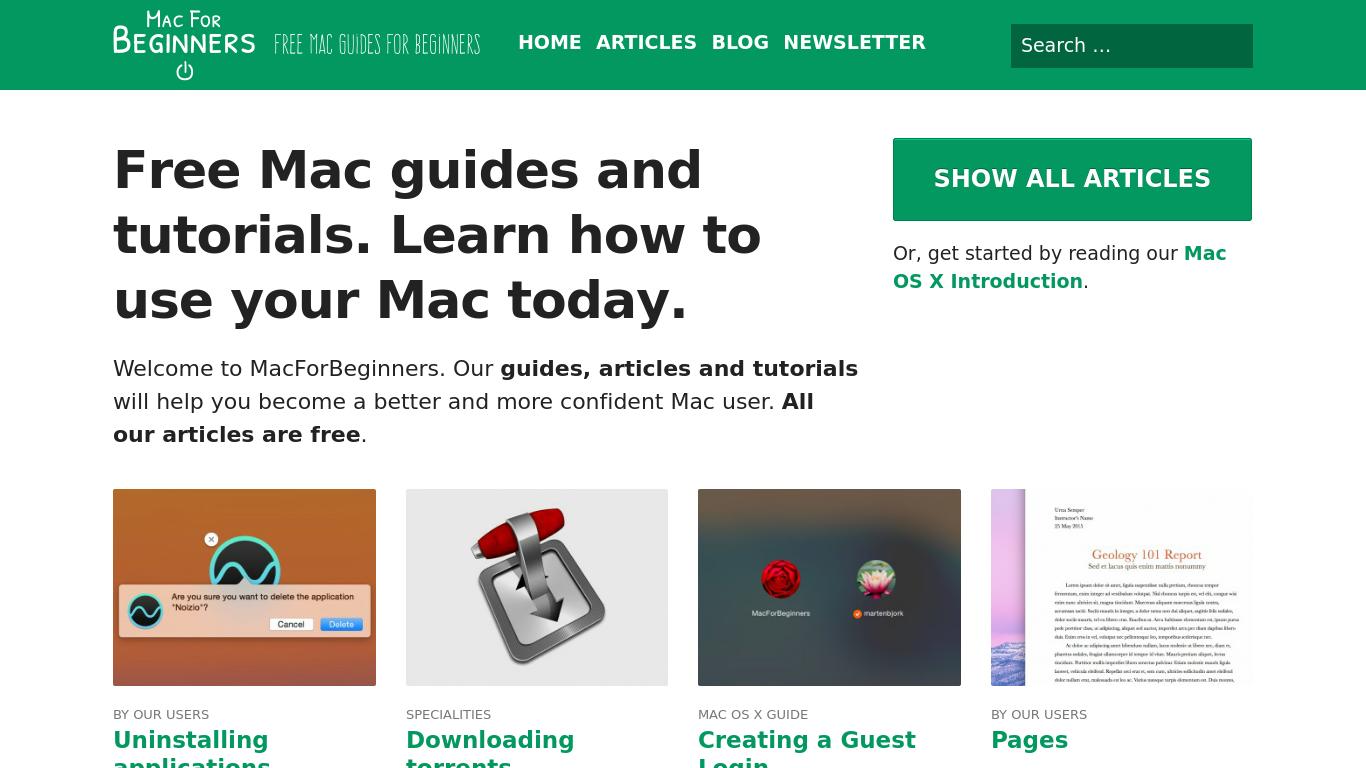 macforbeginners.com Screenshotx