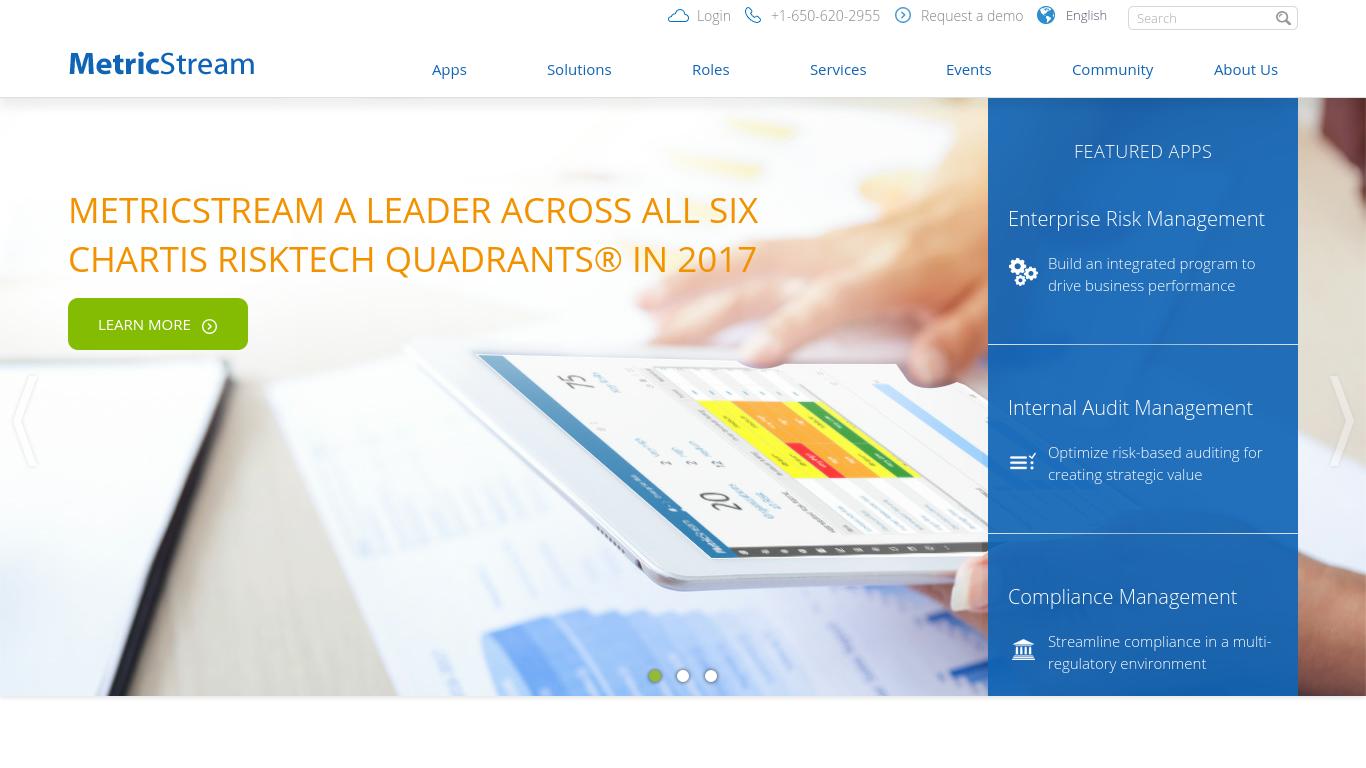 metricstream.com Screenshotx