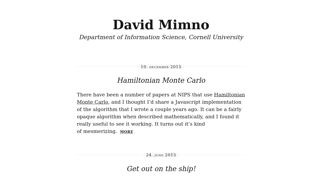mimno.org Screenshotx