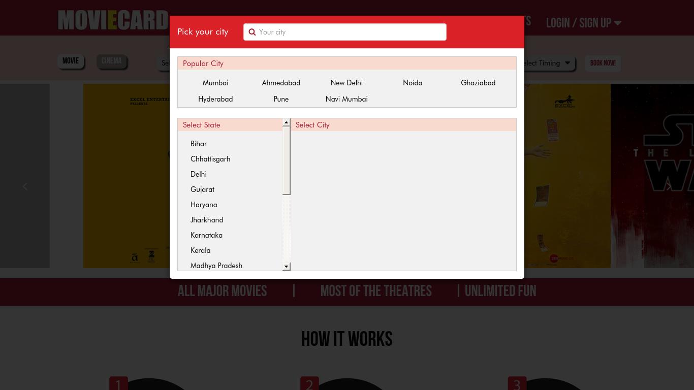 moviecardindia.com Screenshotx