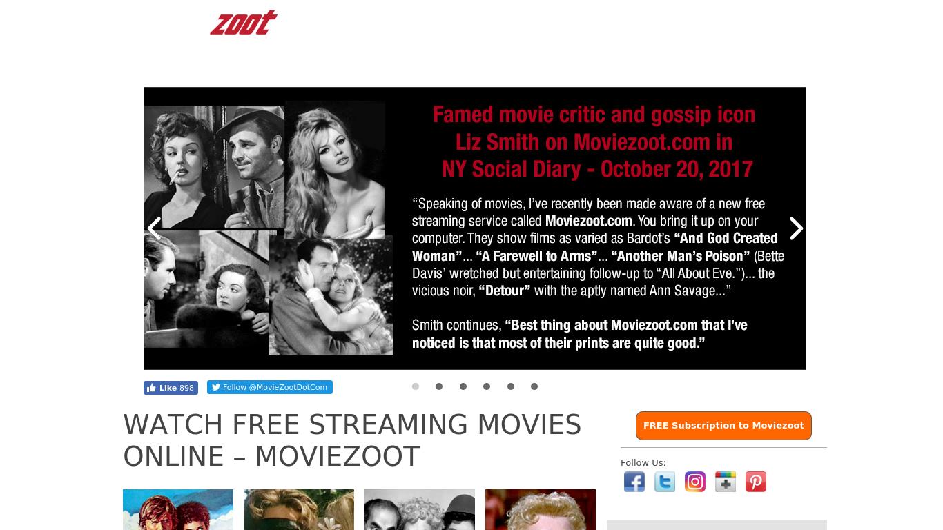 moviezoot.com Screenshotx
