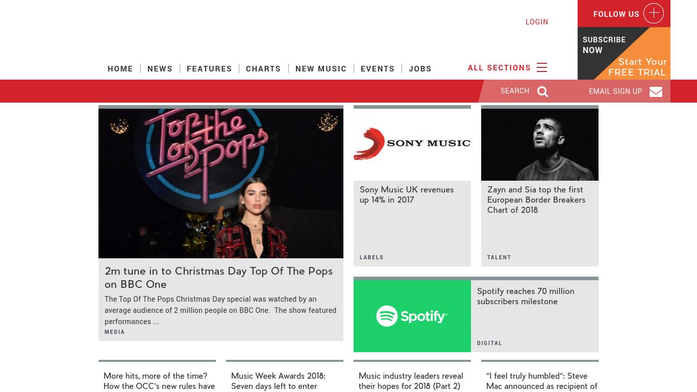 musicweek.com Screenshotx