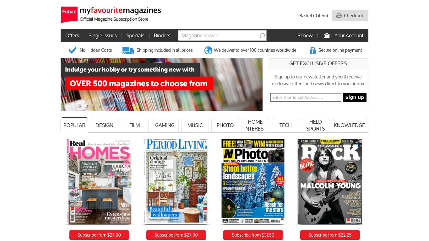 myfavouritemagazines.co.uk Screenshotx