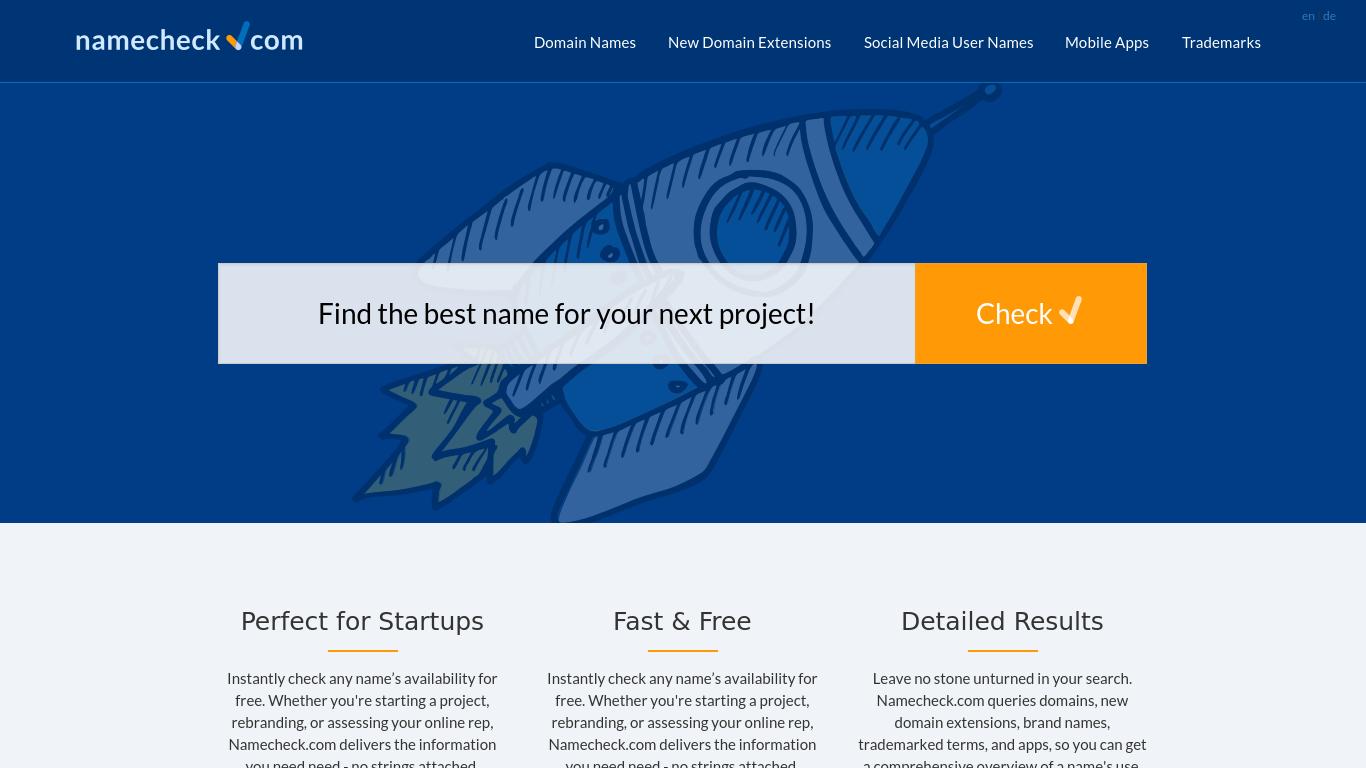 namecheck.com Screenshotx
