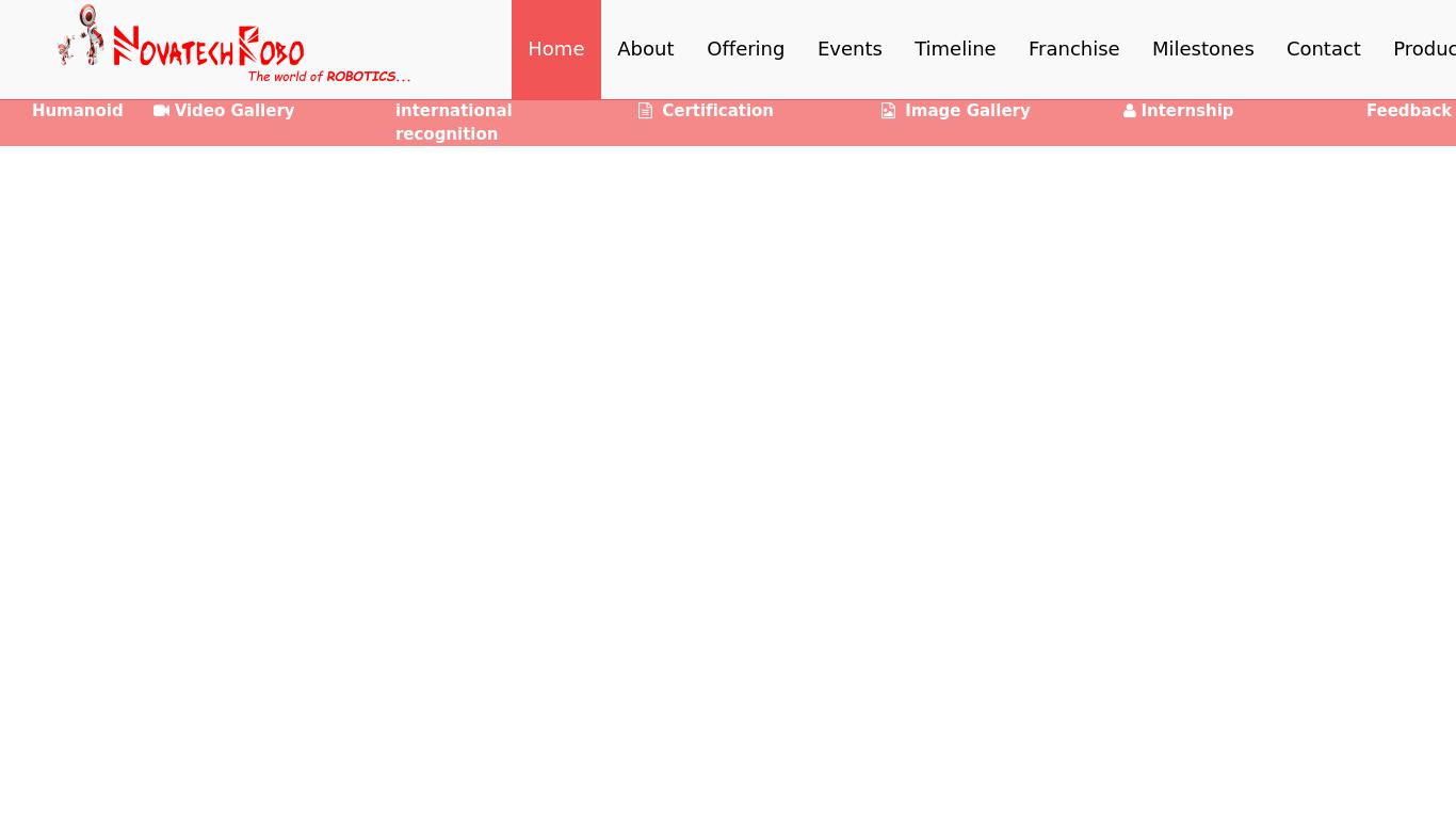 novatechrobo.com Screenshotx