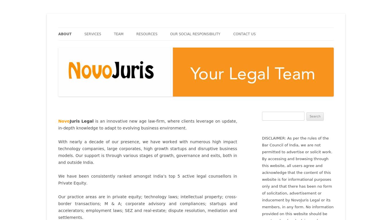 novojuris.com Screenshotx