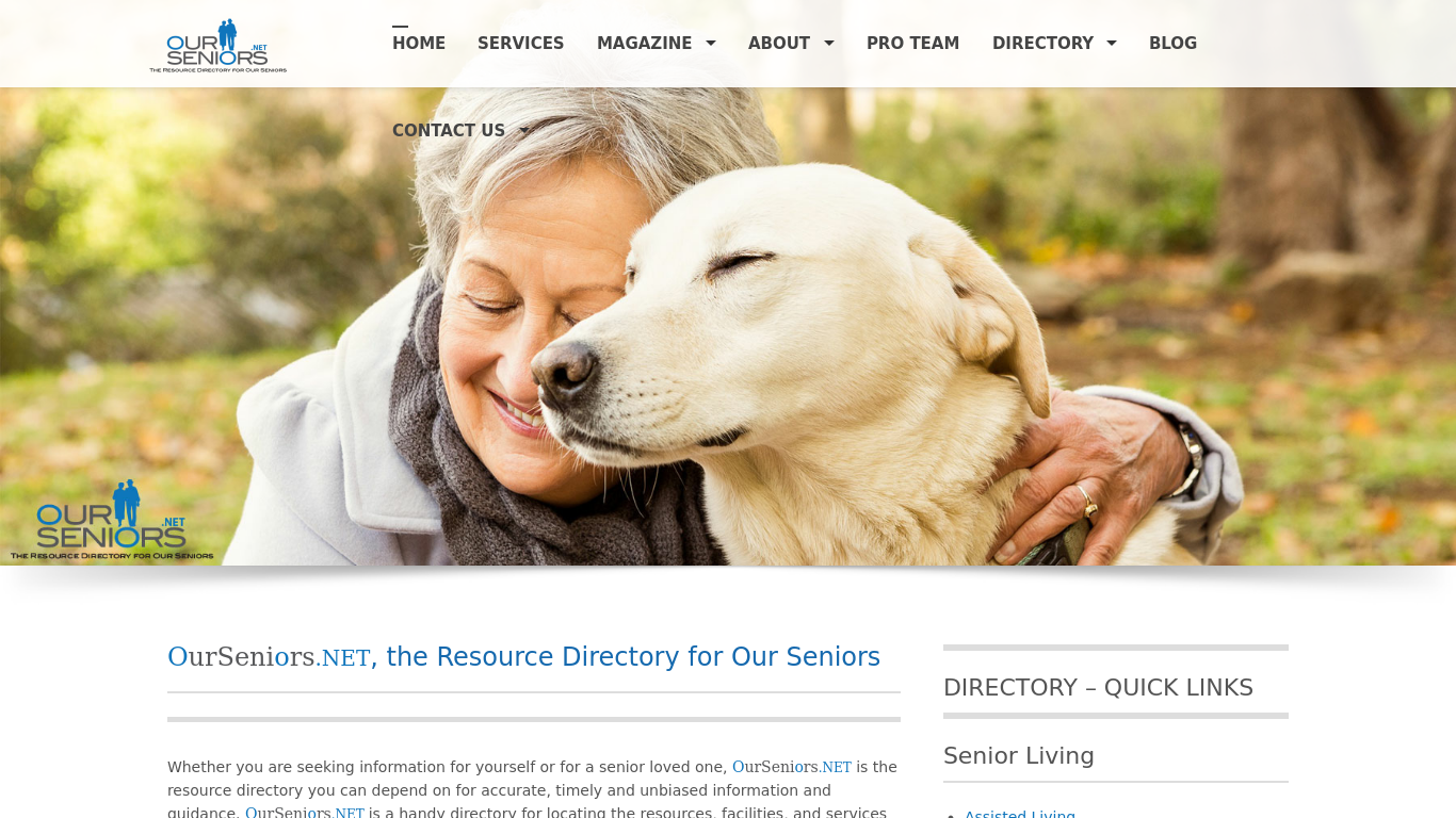 ourseniors.net Screenshot
