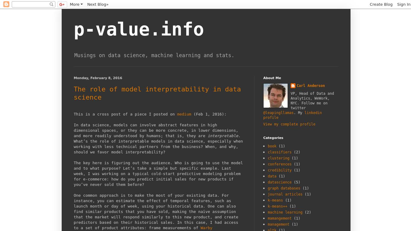 p-value.info Screenshotx