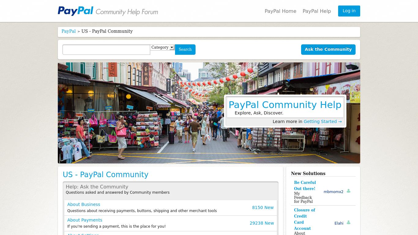 Amateur video community paypal