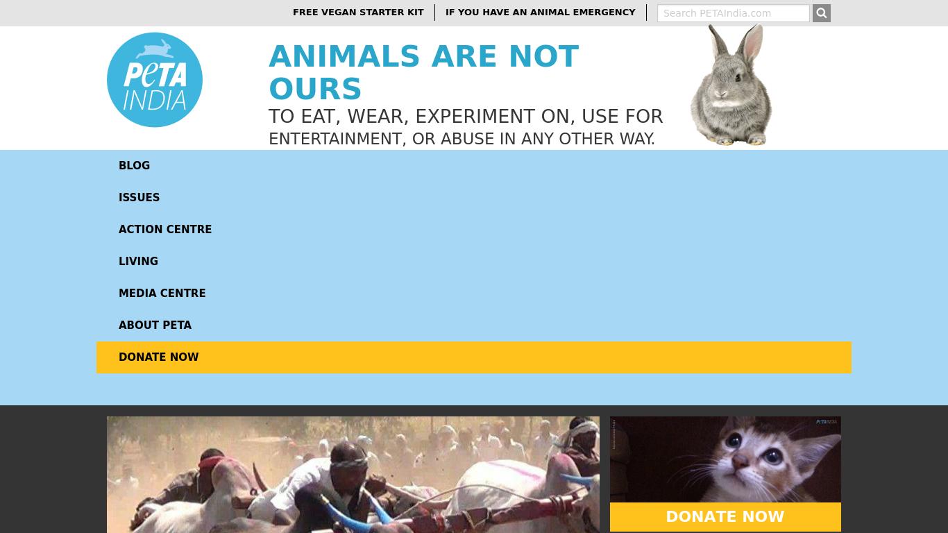 petaindia.com Screenshotx