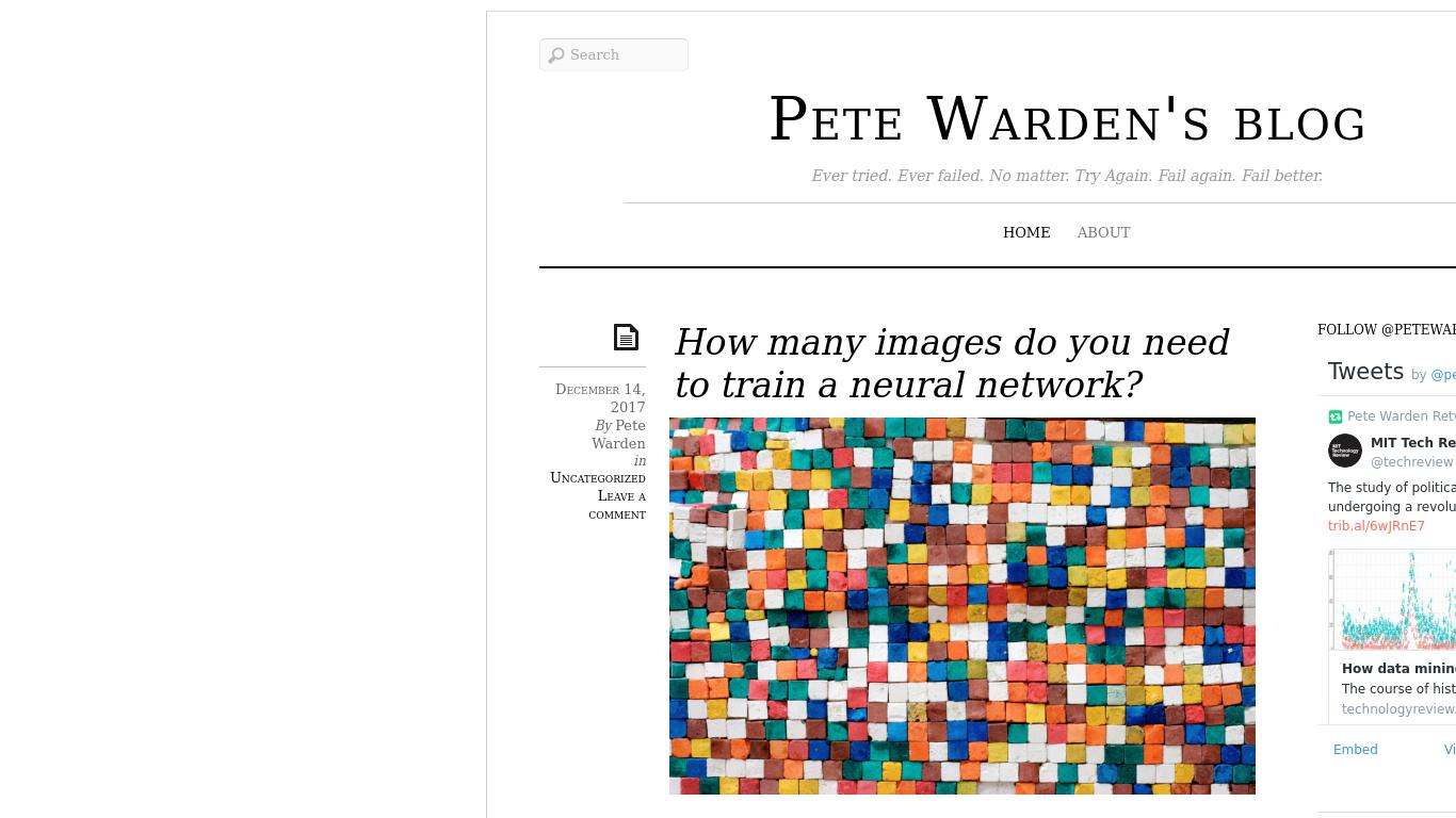 petewarden.com Screenshotx
