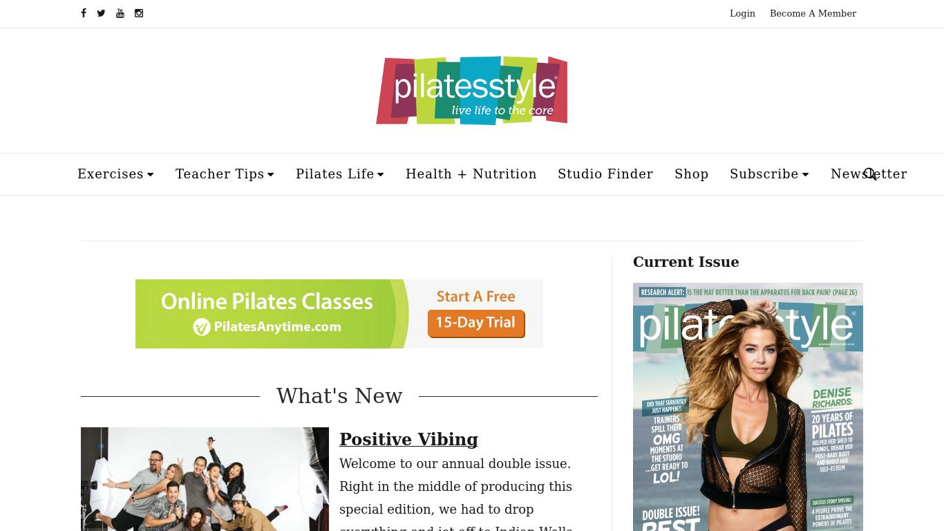 pilatesstyle.com Screenshotx