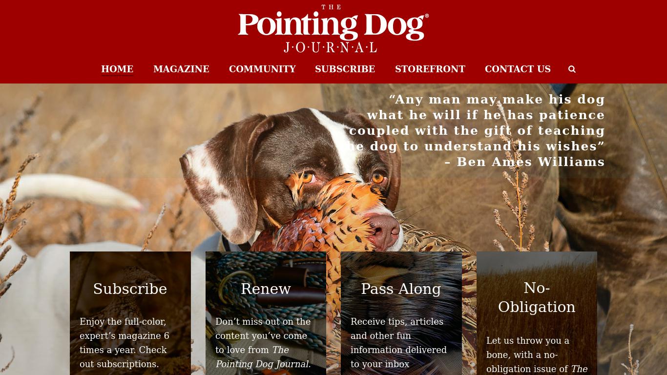 pointingdogjournal.com Screenshotx