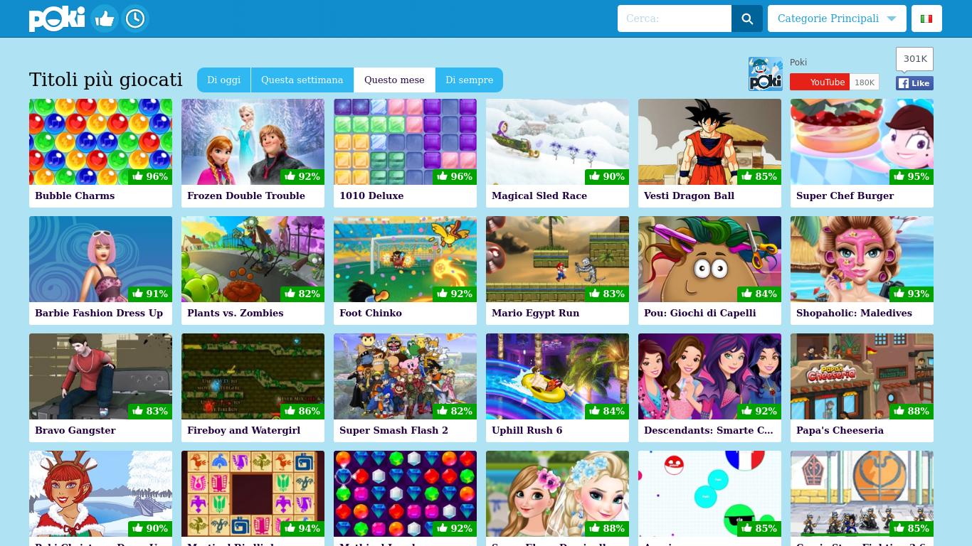 Giochi gratis online poki