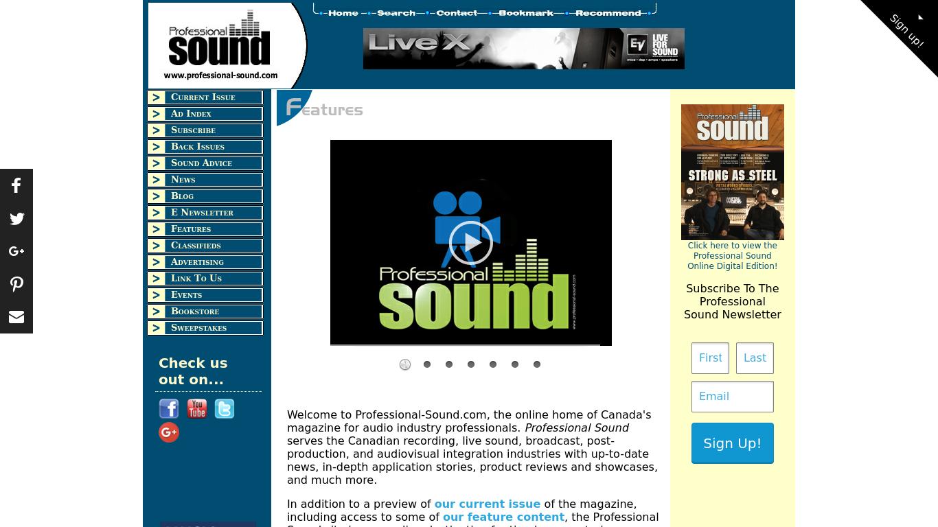 professional-sound.com Screenshotx