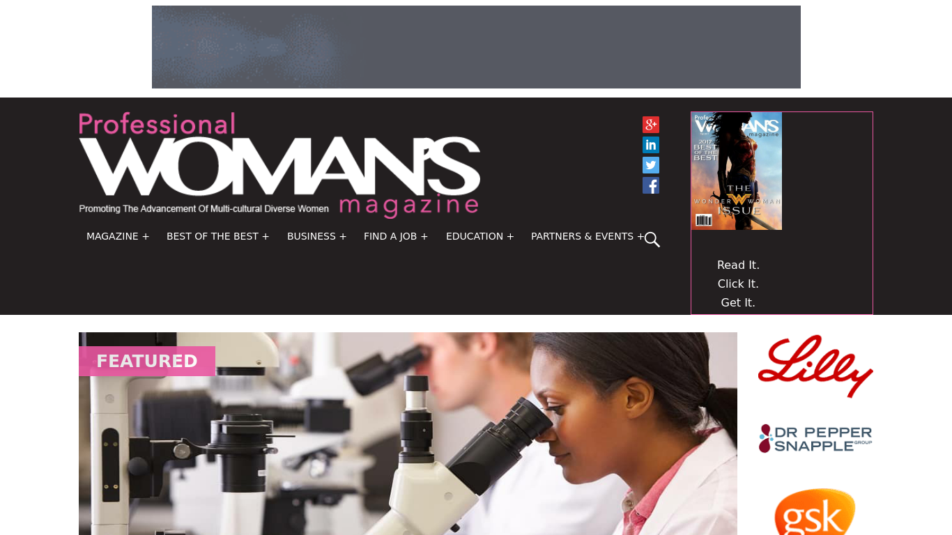 professionalwomanmag.com Screenshot