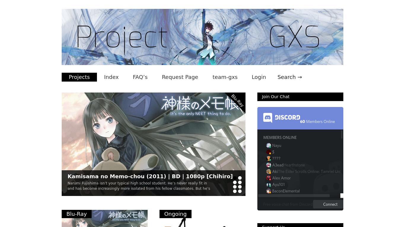 project-gxs.com Screenshotx
