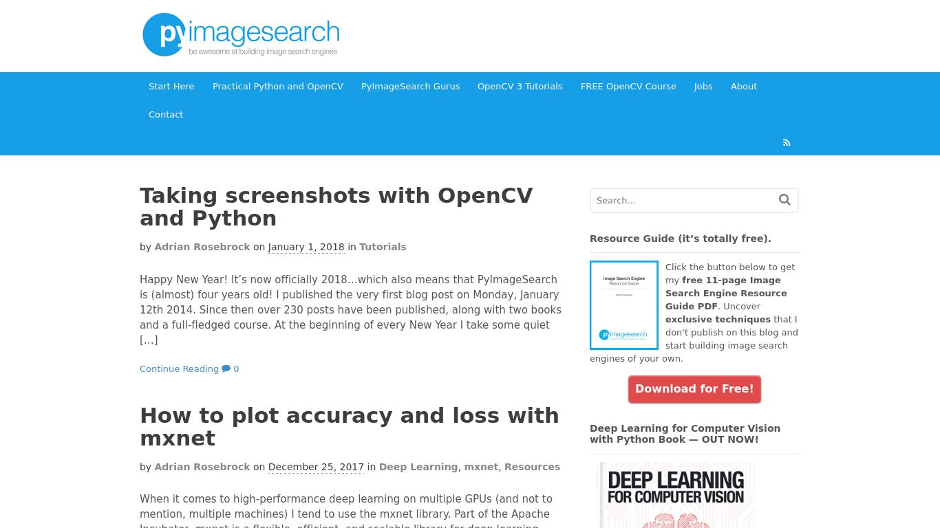 pyimagesearch.com Screenshotx