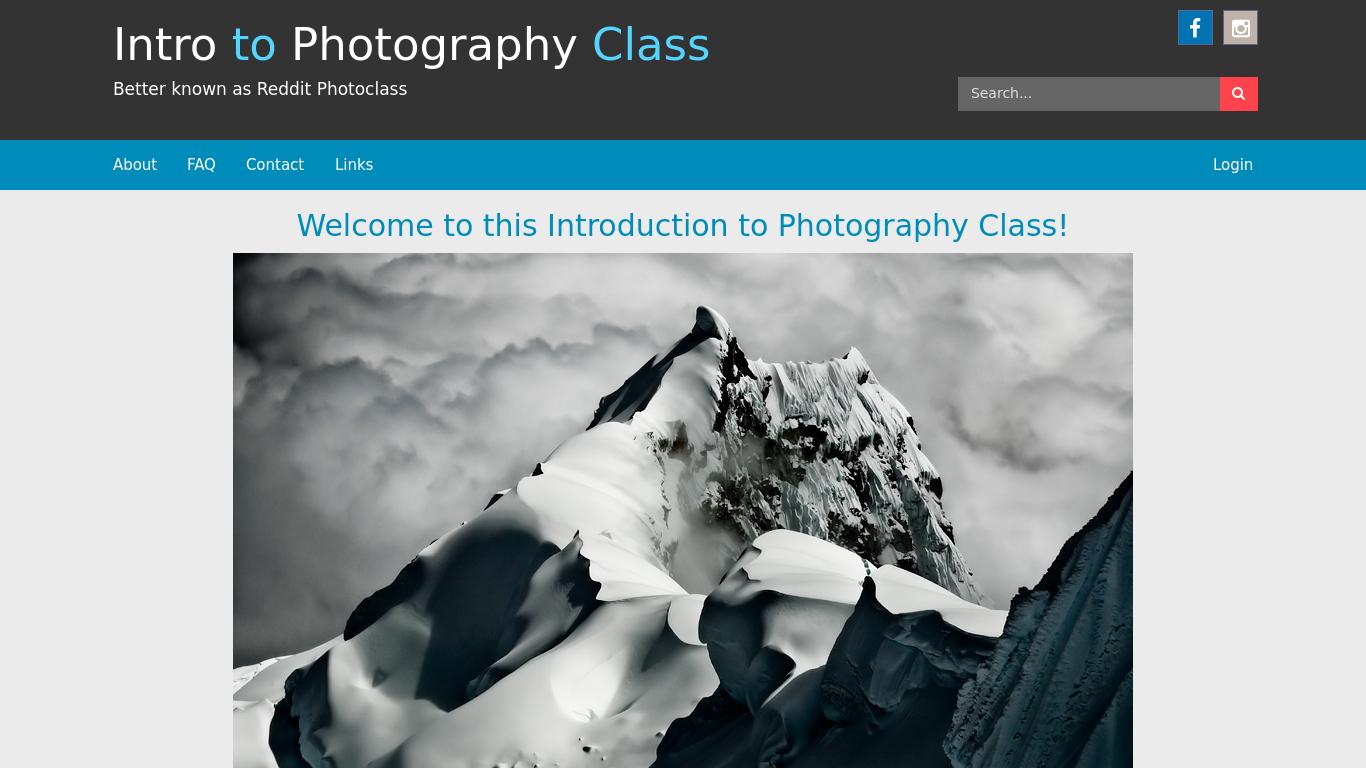 r-photoclass.com Screenshotx
