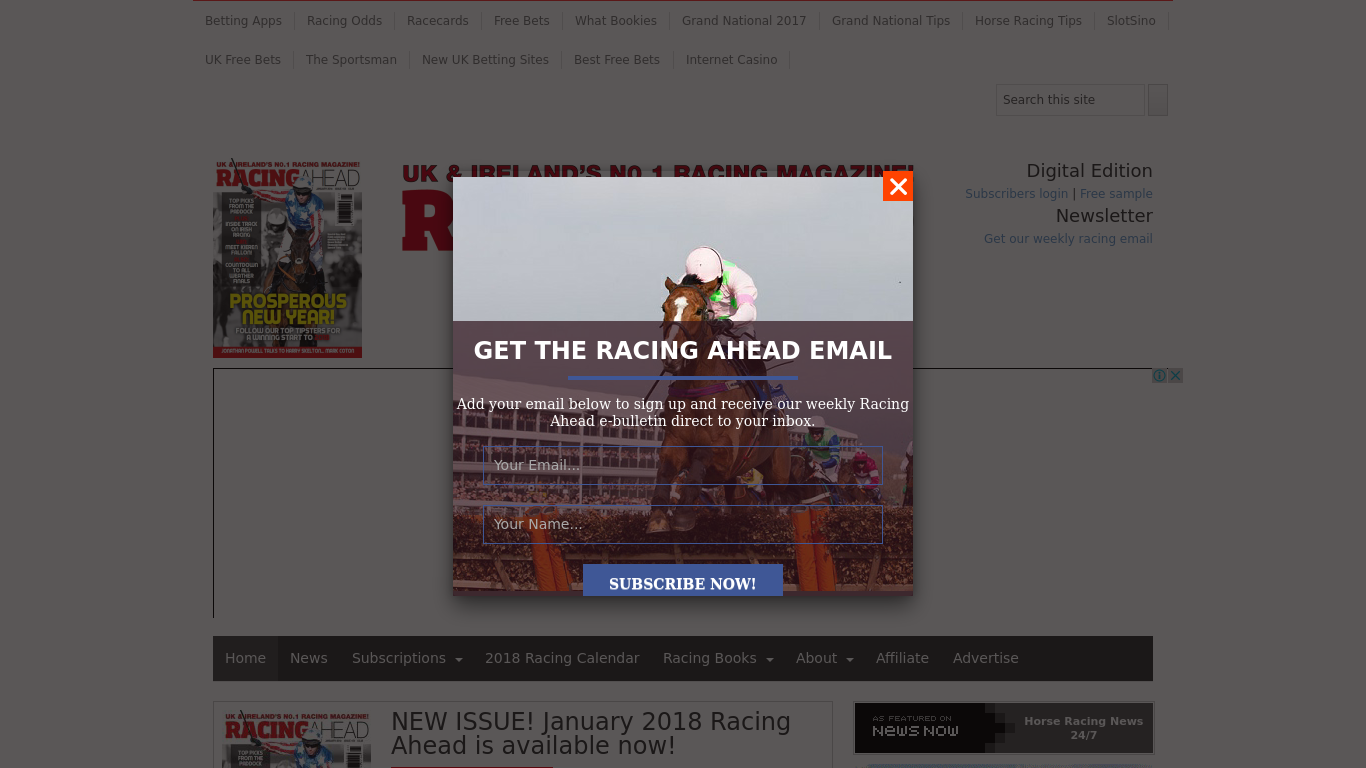 racingahead.net Screenshotx
