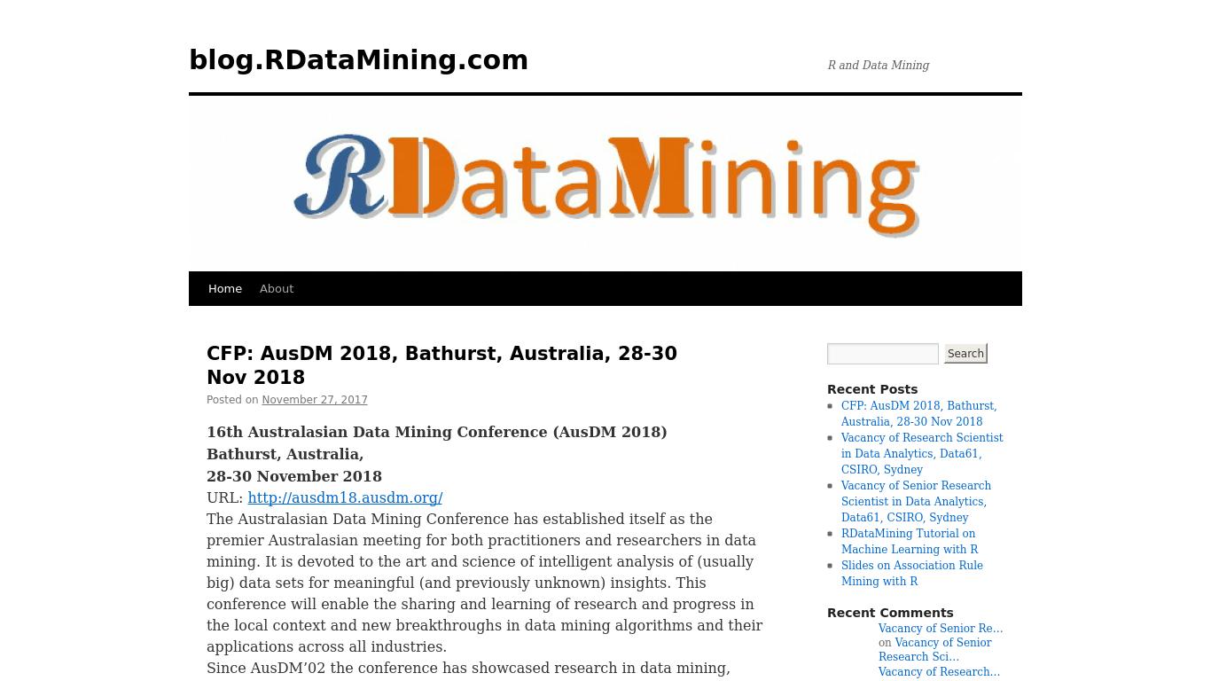 rdatamining.wordpress.com Screenshotx
