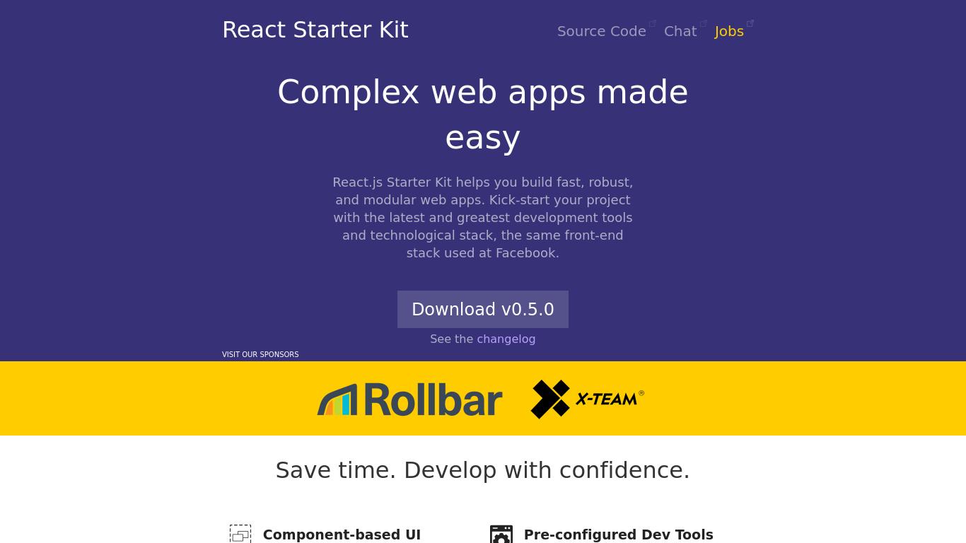 reactstarter.com Screenshotx