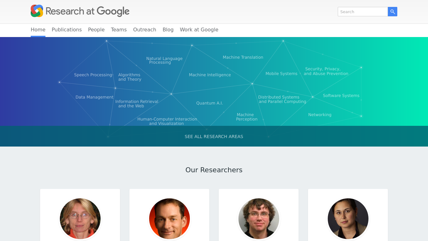 google research Google brain is a deep learning artificial intelligence research team at googleit combines open-ended machine learning research with system engineering and google-scale computing resources.