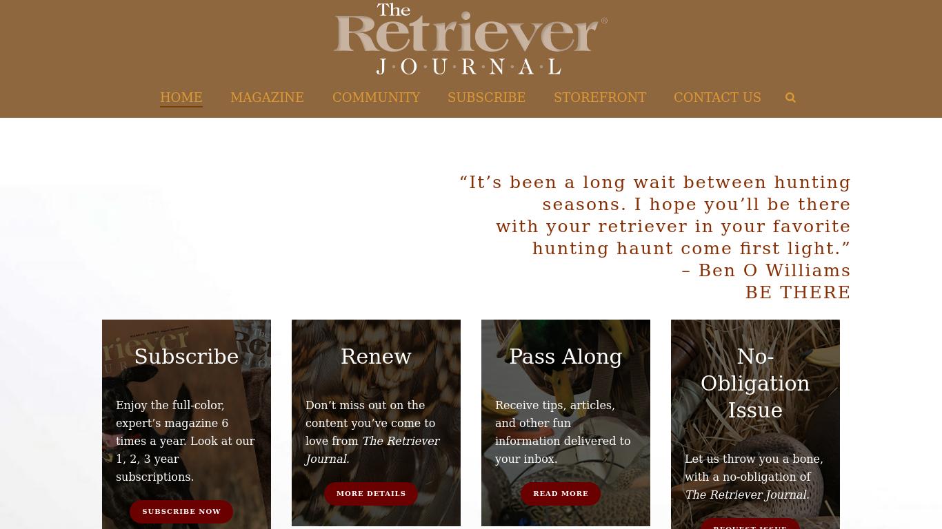 retrieverjournal.com Screenshotx