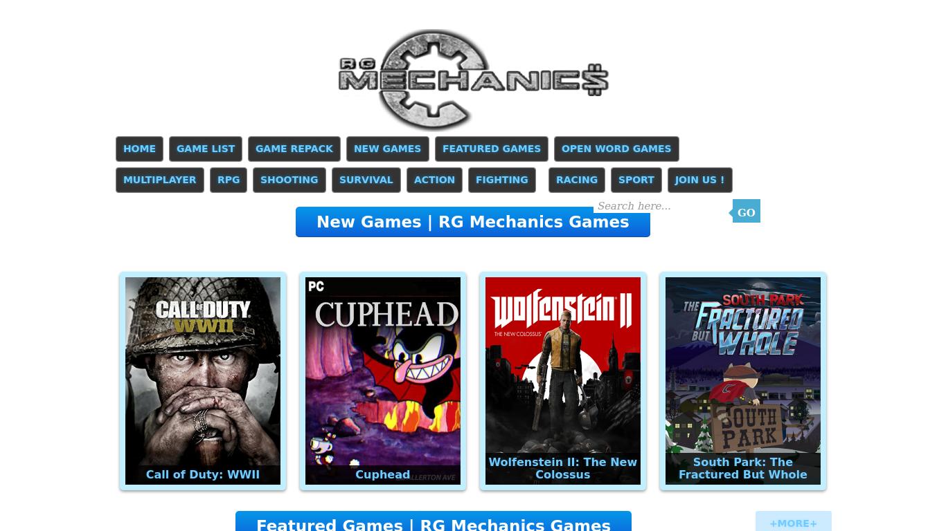 rgmechanicsgames.com Screenshotx