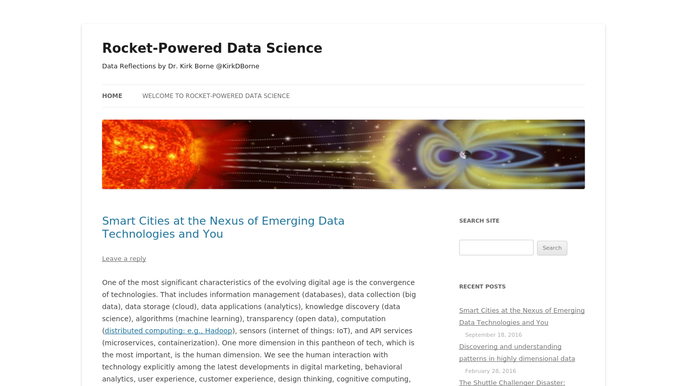 rocketdatascience.org Screenshot