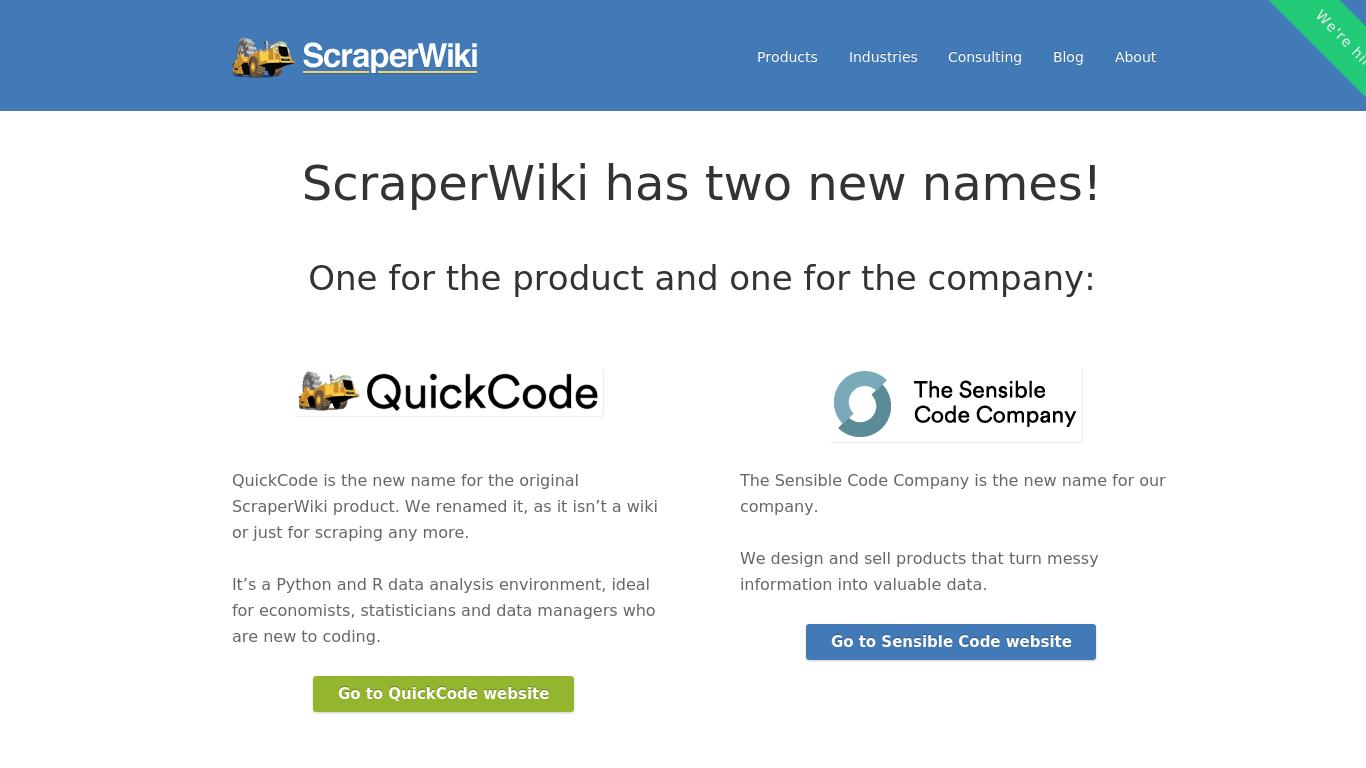 scraperwiki.com Screenshotx
