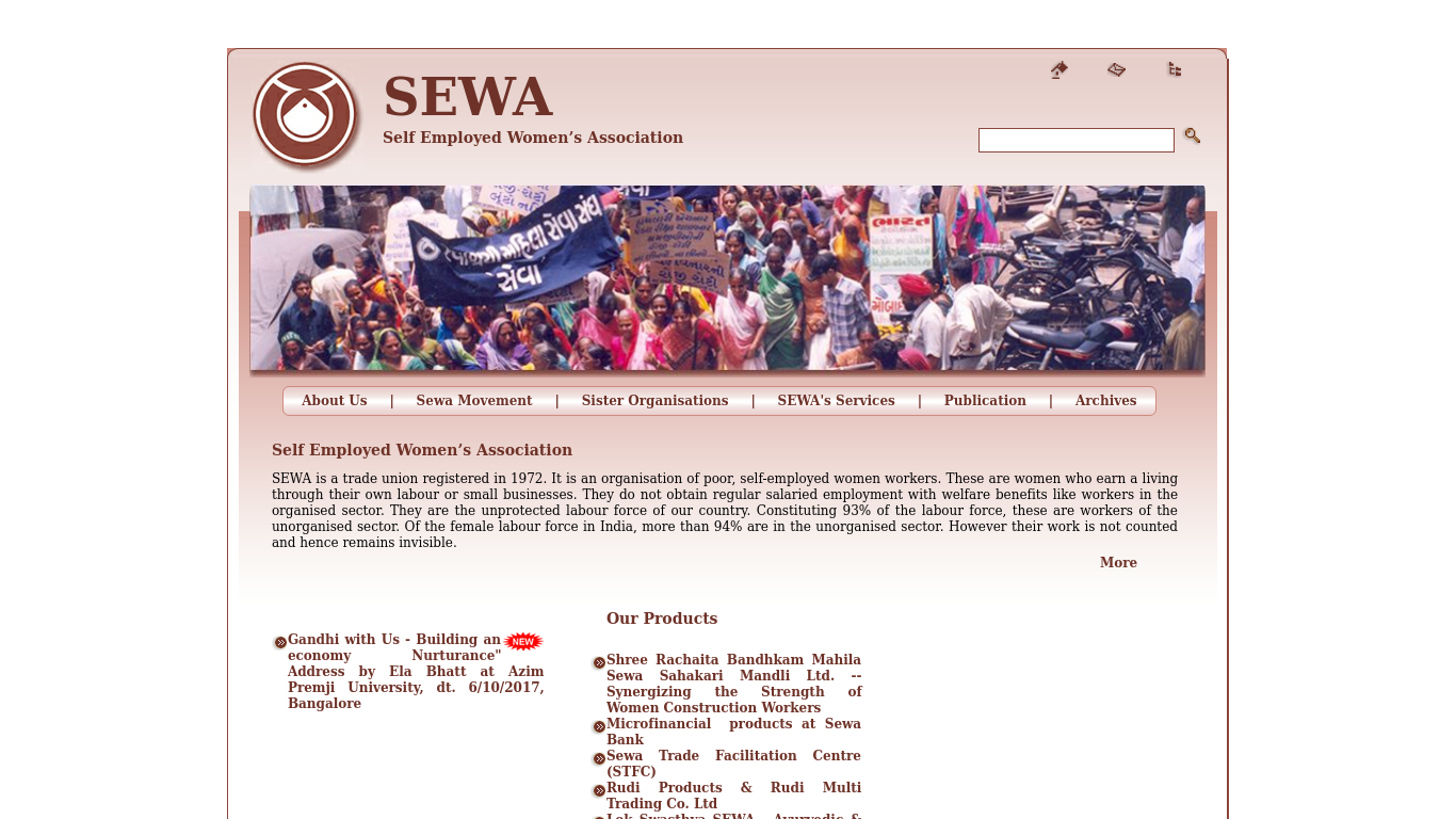 sewa.org Screenshotx