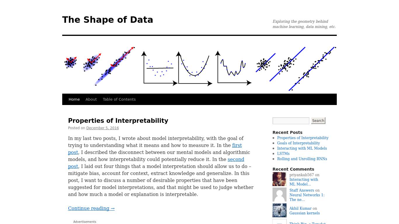 shapeofdata.wordpress.com Screenshotx